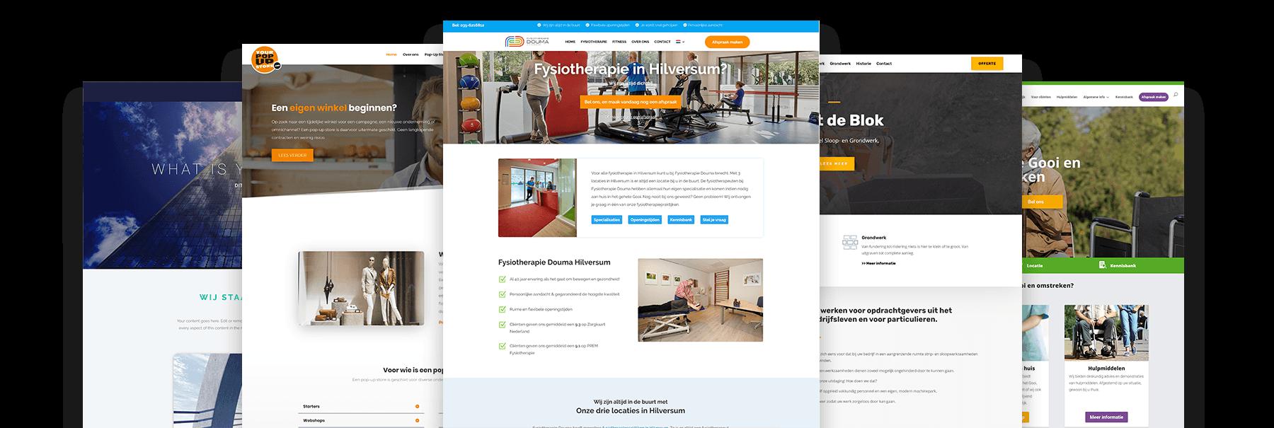 Vijf recente webdesign projecten