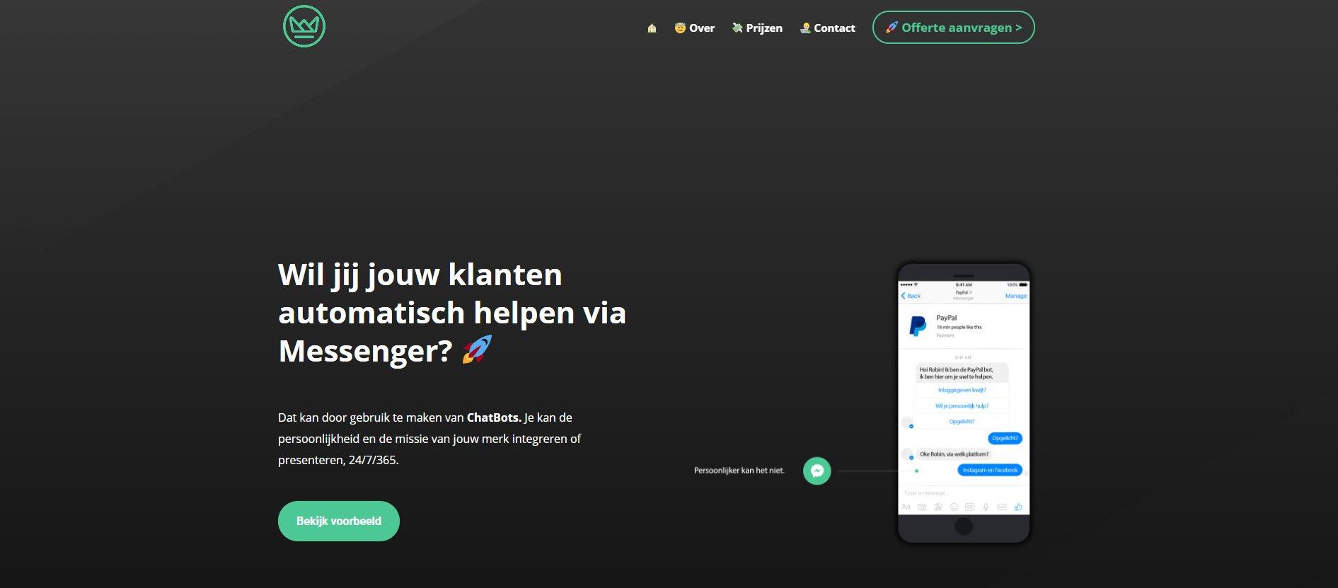 Facebook Messenger ChatBots: een interview met Robin Keijzer